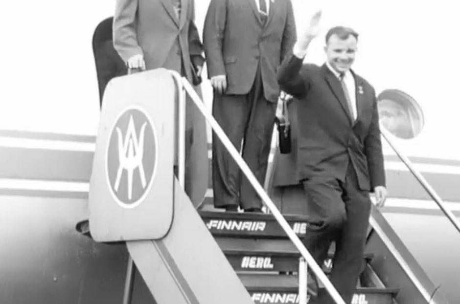 gagarin lentoasemalla 1962