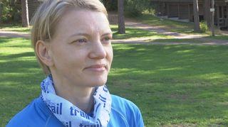 Sipoonkorven polkujuoksun osallistuja Nadija Timonen