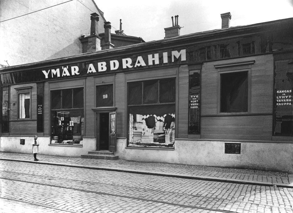Татарский магазин текстиля на улице Исо Рообертинкату, конец 19-го века