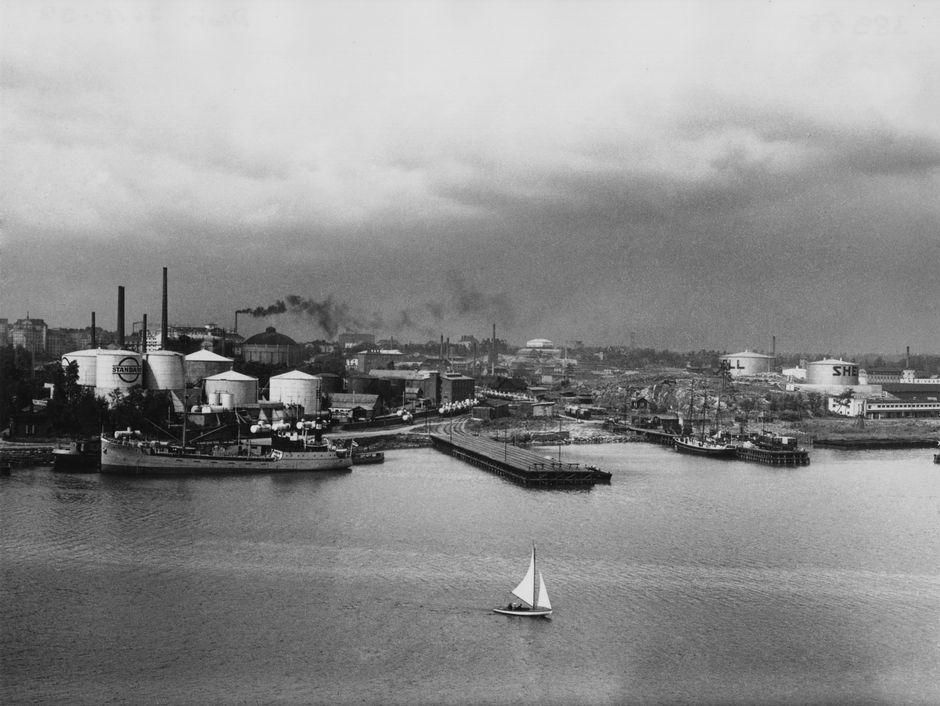Вид на Сёрняйнен с острова Сомпасаари, 1930-е годы