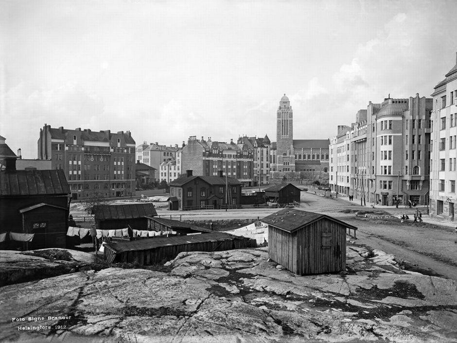 Каллио, территория нынешнего Медвежьего парка, 1912 год