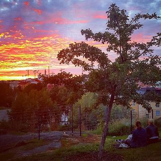Закат над Пасила, вид из парка Ленина