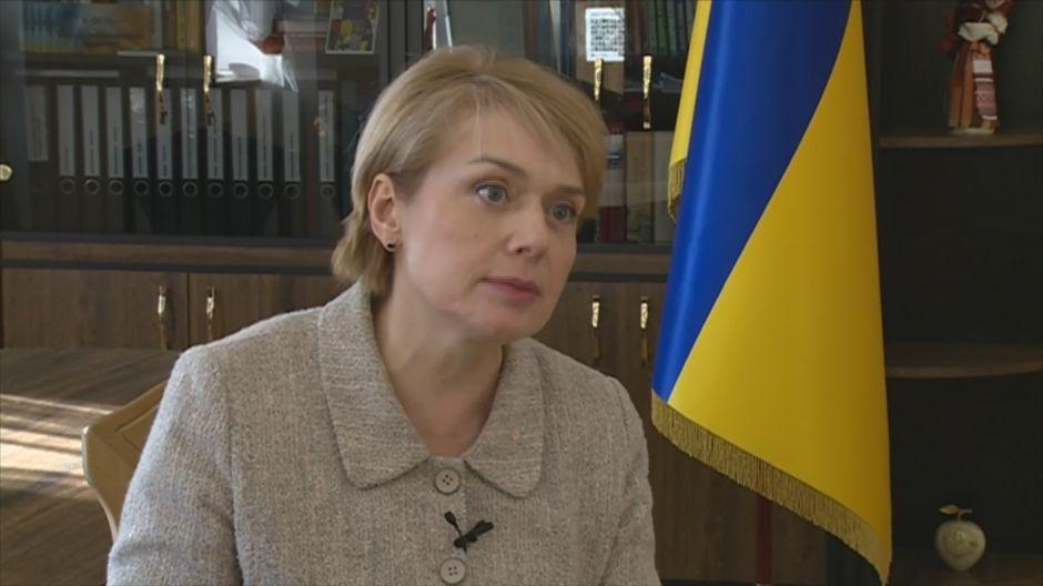 Ukrainan opetusministeri Lilia Hrynevytch.