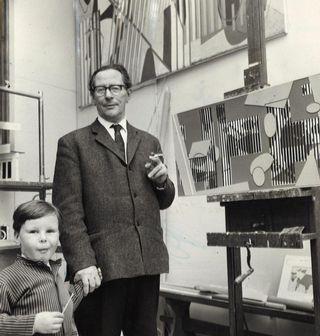 Сам Ванни с сыном Микко, 1964 г.