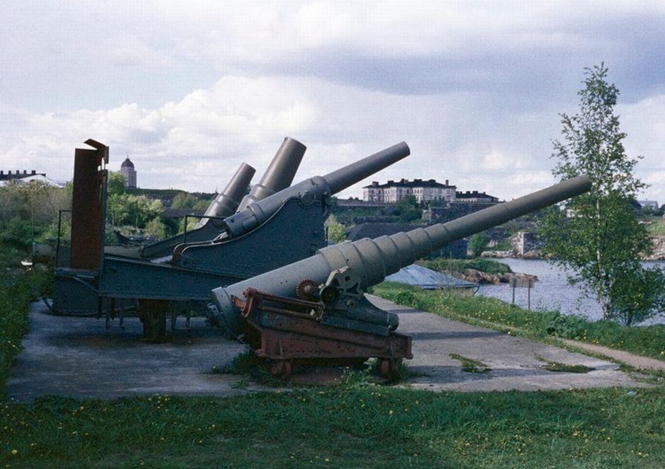 Русские пушки на острове Суоменлинна