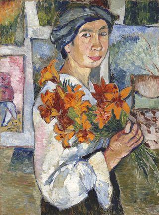 «Автопортрет с желтыми лилиями», 1907–1908, Третьяковская галерея