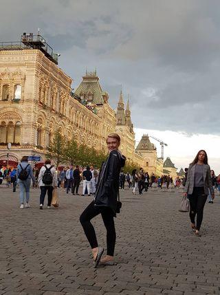 Heidi Ahola Moskovassa.