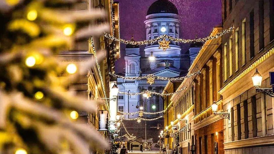Улица Софианкату перед Рождеством