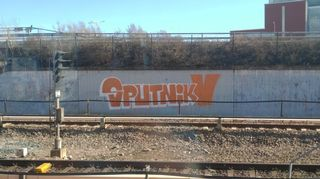 Sputnik graffiti