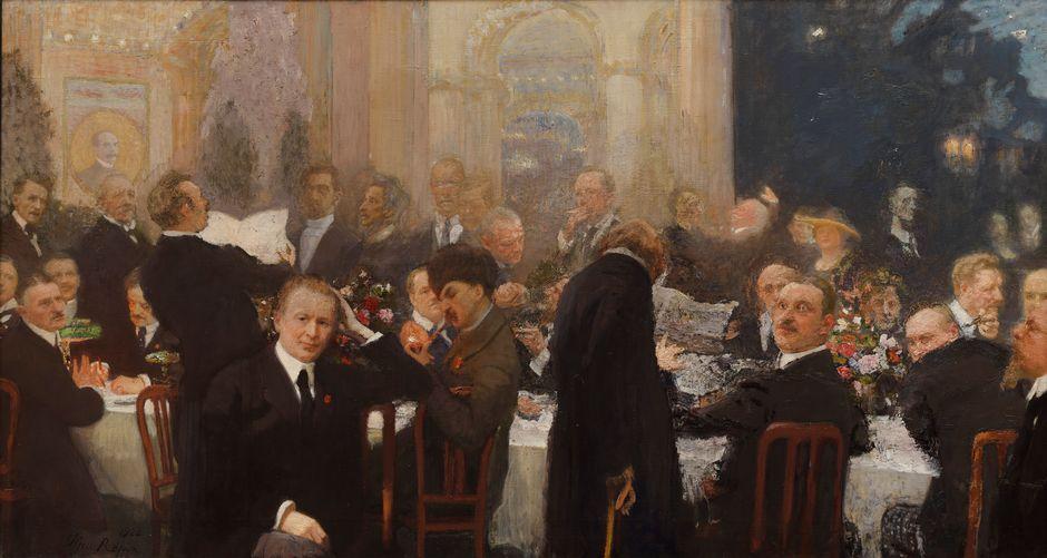 Ilja Repin: Suomen suurmiehiä (1920–1927). Kansallisgalleria / Ateneumin taidemuseo. Kuva: Kansallisgalleria / Hannu Aaltonen.
