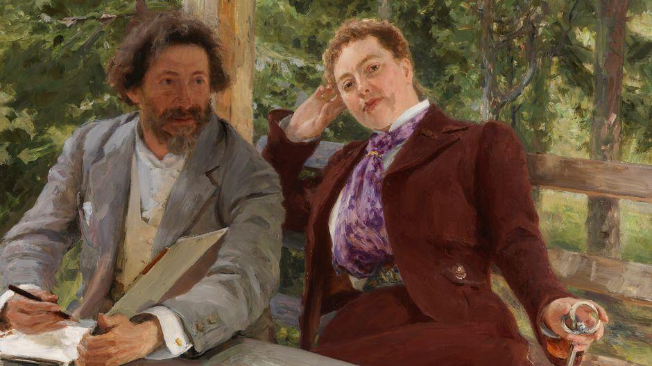 Ilja Repin: Natalia Nordmannin ja Ilja Repinin kaksoismuotokuva (1903). Kansallisgalleria / Ateneumin taidemuseo. Kuva: Kansallisgalleria / Jenni Nurminen.