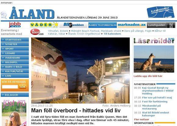 ålandstidningenin uutinen 29062013