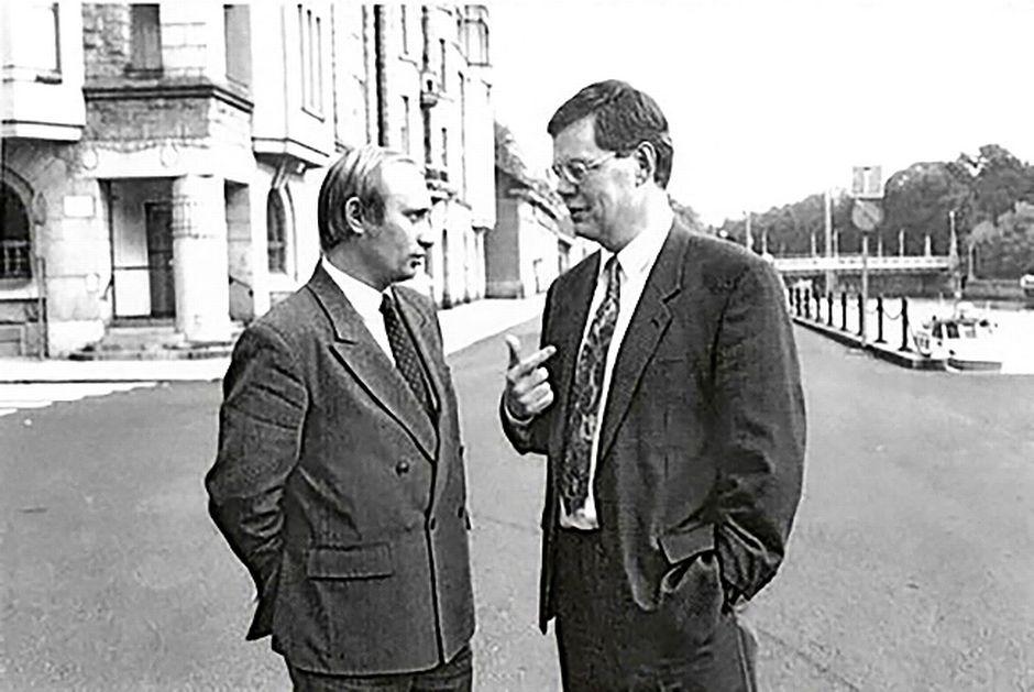 Juhani Leppä ja Vladimir Putin