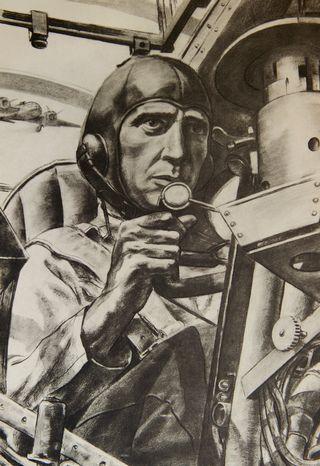 Pommituslentäjä matkalla kohteeseen