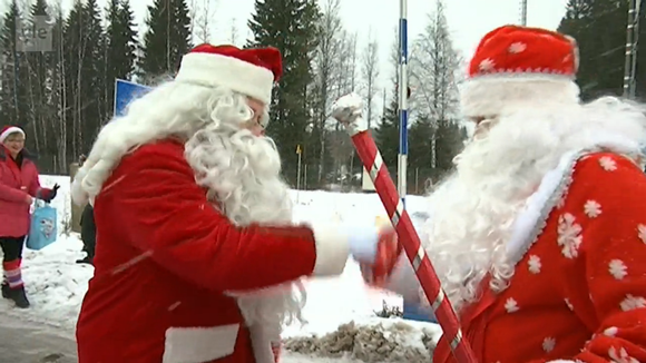Видео: joulupukki ja pakkasukko
