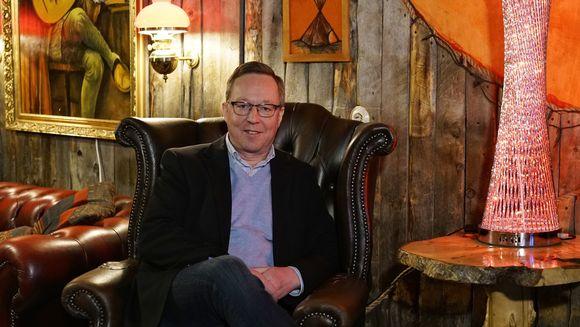 Elinkeinoministeri Mika Lintilä Utsjoella 10.1.2018.