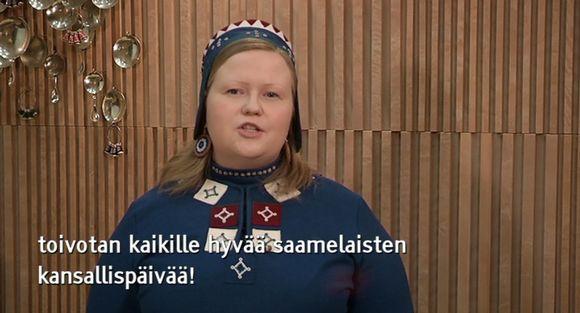 Video: Tiina Sanila-Aikio piti puheen saamelaisten kansallispäivänä.