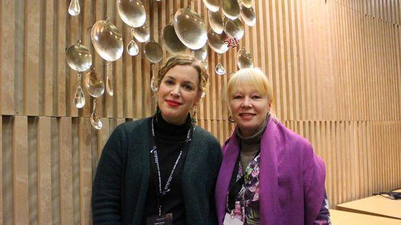 Toimittajat Kukka Ranta ja Jaana Kanninen Sajoksessa.