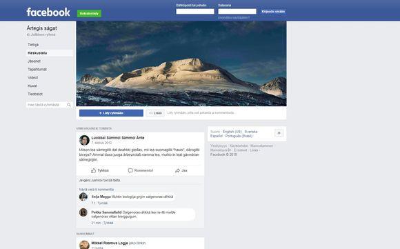 Govva facebooka Ártegis ságat -joavkus.