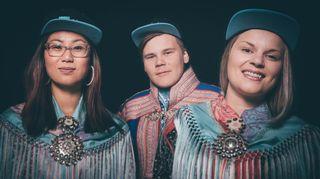 Sohkaršohkka nappo Xia Torikka, Jon-Erik Näkkäläjärvi ja Linda Tammela.