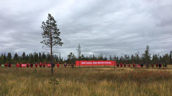 Red line -protesti Vuotsossa 4.9.2018