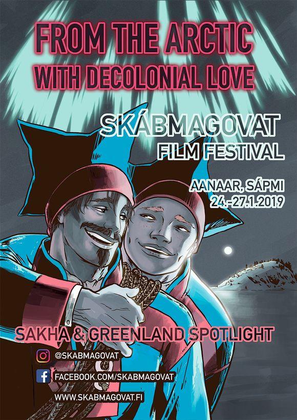 Jagi 2019 Skábmagovat-filbmafestivála plakáhta.