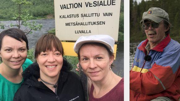 Kati Eriksen, Anne Nuorgam, Heidi Eriksen ja Esko Aikio rihkko čakčat 2017 guolástannjuolggadusaid ja almmuhedje das ieža bolesii.