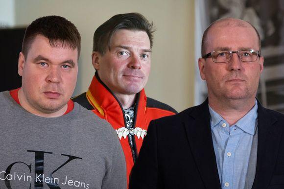 Gurutrávddas Tuomas Semenoff, Niila Laiti ja Jarmo Haataja.