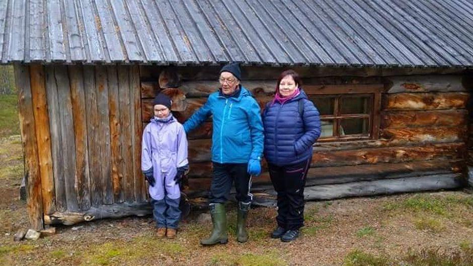 Semenoffin perhe Oskarinkoskella viidessä polvessa