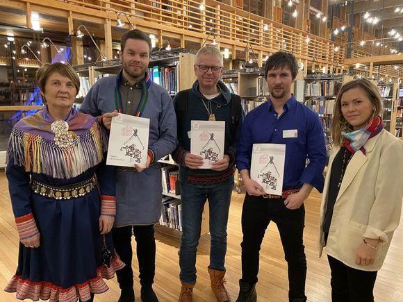 Inger Anne Klemetsen, Mikkel Eskil Mikkelsen, Torkel Rasmussen, Leif Erik Varsi ja Arla Magga