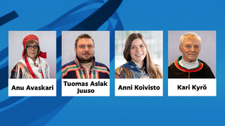 Anu Avaskari, Tuomas Aslak Juuso, Anni Koivisto ja Kari Kyrö