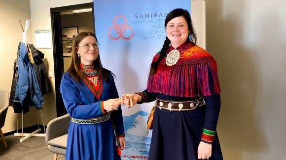 Sámiráđđi Åsa Larsson Blind ja Christina Henriksen