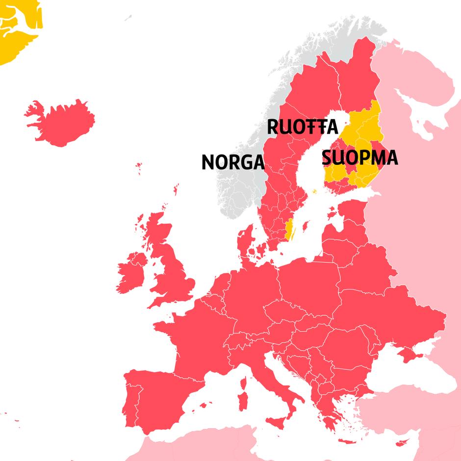 Matkustusrajoitukset suomesta norjaan