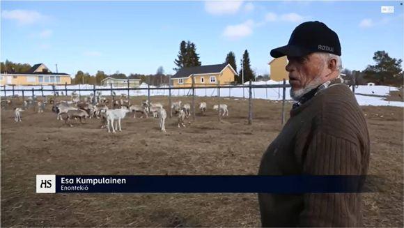 Esa Kumpulainen hálai boraspiriid birra Helsingin Sanomat -áviissa neahttasiiddus giđđat 2014.