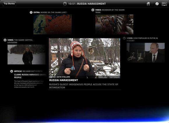 Sky News ođas Lujávrris, Ruošša Sámis.