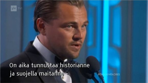 Video: Leonardo DiCaprio, Golden Globe 2016