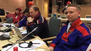 Pentti Pieski ja Jan Saijets dalán sámeguovllu olggobeale ovddasteaddji válljema maŋŋá 23.2.2016 / Pentti Pieski ja Jan Saijets heti saamelaisalueen ulkopuolisen edustajan valitsemisen jälkeen 23.2.2016