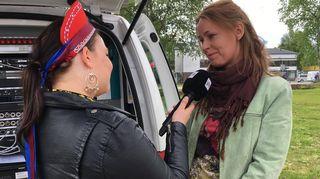 Mari Korpimäki kolttatoimittaja Sara Wesslinin haastattelussa.