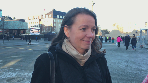 Johanna Suurpää Trondheimissa saamelaisten kansallispäivänä 6.2.2017