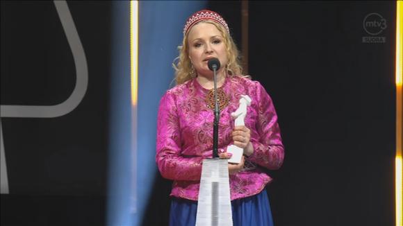 Katja Gauriloff Jussi gaalassa