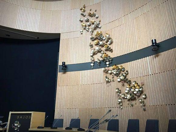 Outi Pieski taideteos saamelaiskulttuurikeskus Sajos saamelaiset