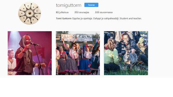 Tomi Guttorma instagram-kontu.