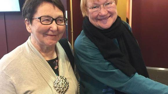 Ristenrauna Magga ja presideanta Tarja Halonen