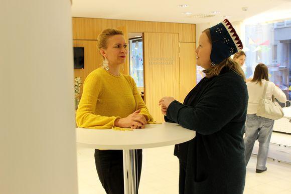 Tiina Sanila-Aikio, saamelaiskäräjien puheenjohtaja, ihmisoikeusliiton pääsihteeri Kaari Mattila