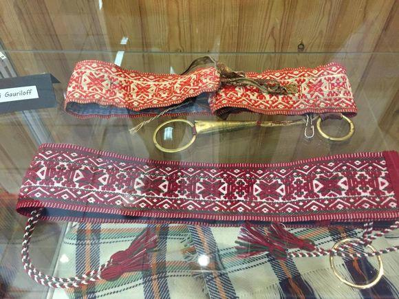 1900-luvulla tehty kolttasaamelaisen naisen lankavyö elvytettiin tähän päivään. Tekijä Heidi Gauriloff.