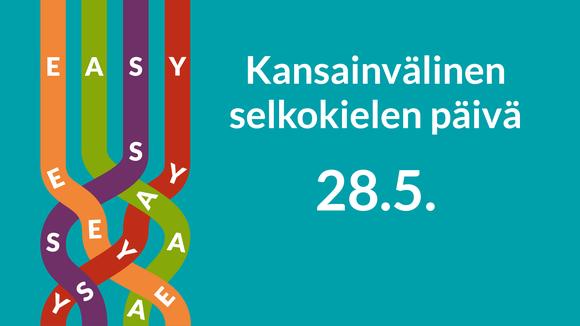 Kansainvälisen selkokielen päivän logo.