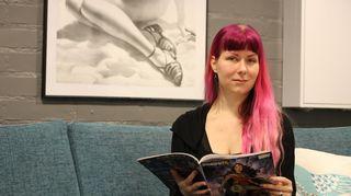 Kuvassa pelisuunnittelija Karoliina Korppoo.
