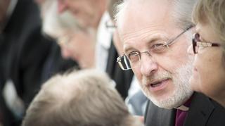Lapuan hiippakunnan piispa Simo Peura Suviseurojen avajaisissa Vaasassa.