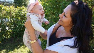Maarit Jakobsson ja Mimmi-vauva