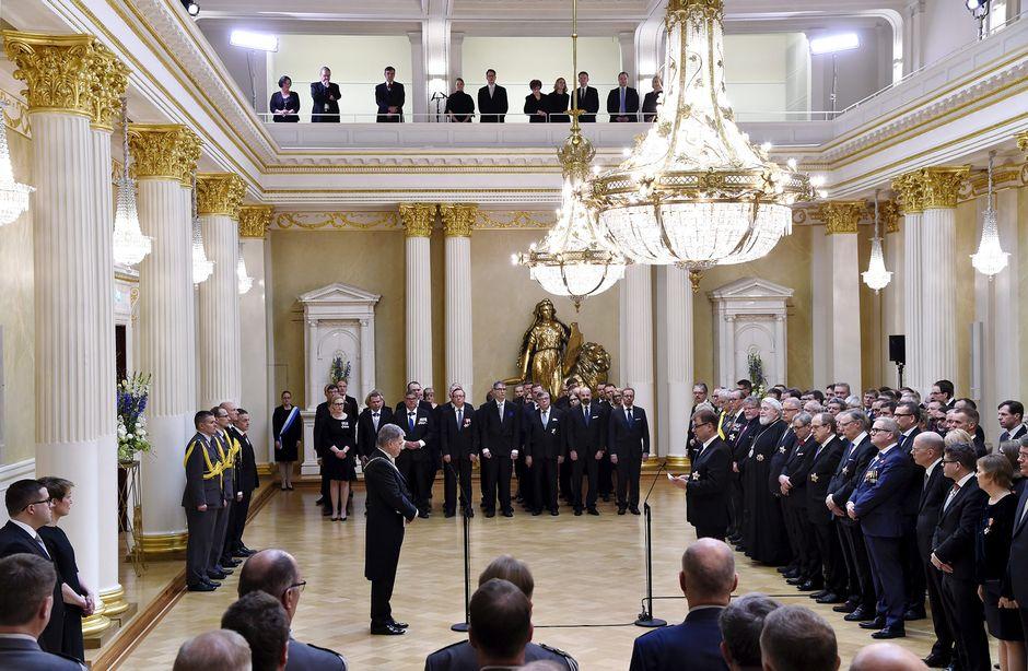Tasavallan presidentti Sauli Niinistön virkaanastujaiset Presidentinlinnassa.